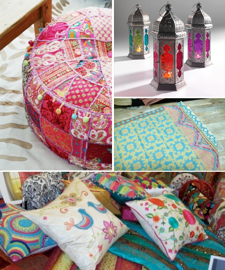 India inspired decor at HomeGoods. lanterns   louisegeorgesyves