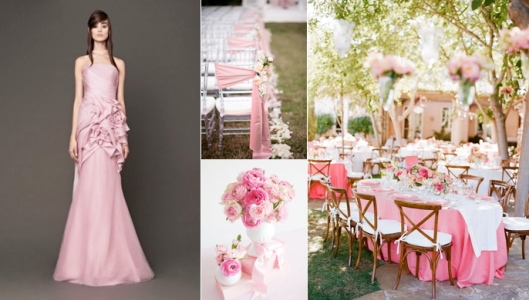 Pink Wedding Gown