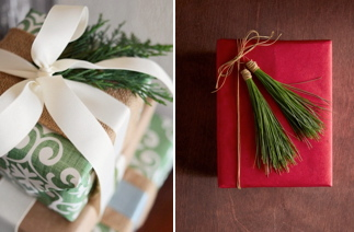 Fresh Foliage Gift Topper