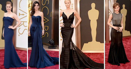 Navy & Black Oscar Gowns